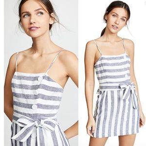 Suboo Revolve Linen Newport Mini Dress Stripped